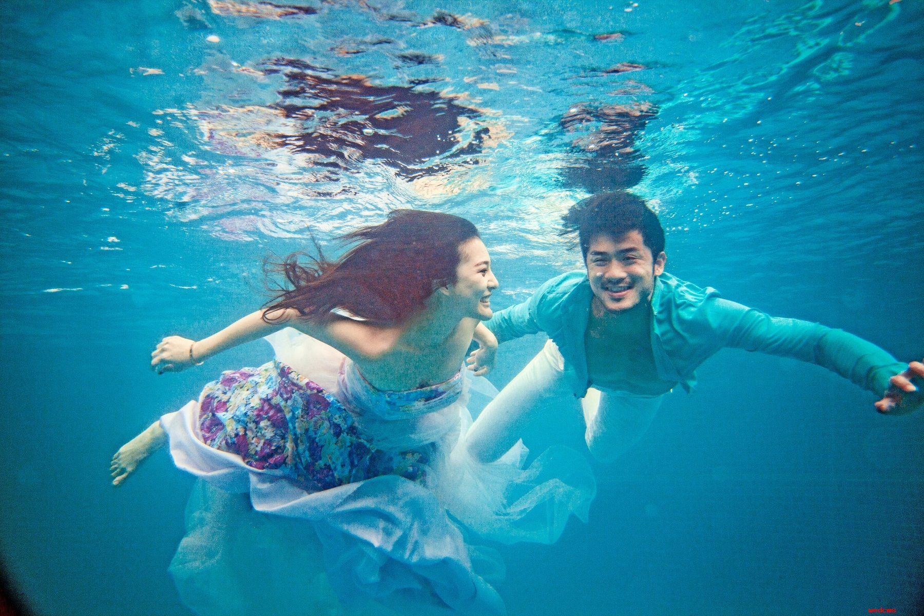 水下摄影 拍摄水下婚纱照注意事项图片